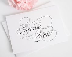 Script Elegance Thank You Cards - Thank You Cards by Shine
