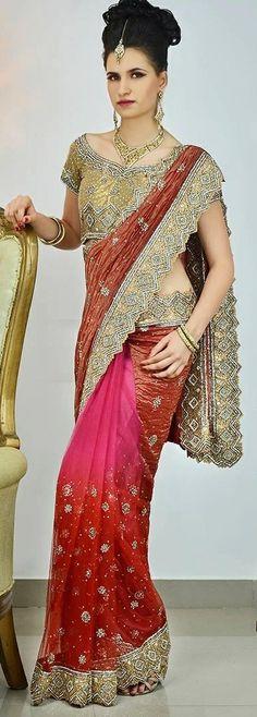 #Pink Colored #Designer Saree