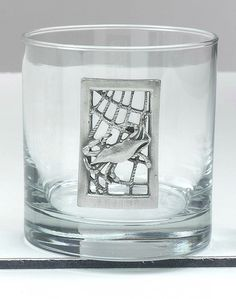 Fun new glasses for summer entertaining! Pewter and Net Detail Old Fashioned Glasses - set of 4