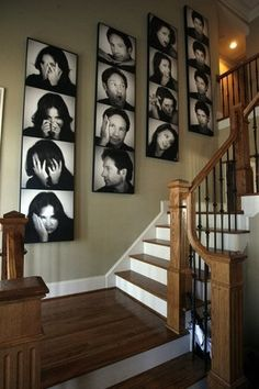 'Photo Booth' wall..okay I don't think I'd actually do this but it looks pretty cool. maybe of kids or something.