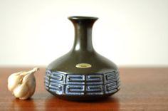 Frank Keramik Denmark  Danish Ceramic Vase  by thelittleblackhouse, kr225.00