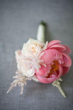 Pink peony & blush rose wedding nosegay. Photography: meganclouse.com Florist: chelseabowman.com