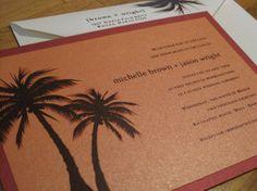 PALM TREE Wedding Invitation SAMPLE Set by PaperblissDesigns, $5.00