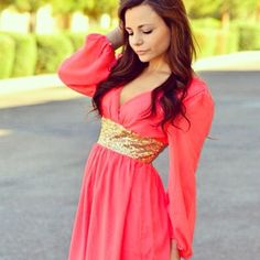 Beautiful coral dress