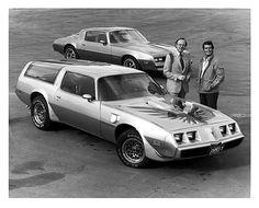Firebird…James Garner, Trans Am Kammback prototype, GM PR photo