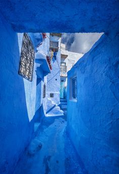 This entire city in the North of Morocco is entirely painted blue by Trey Ratcliff