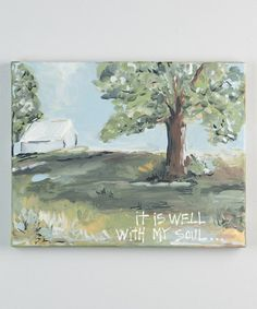 Another great find on #zulily! 'It Is Well With My Soul' Canvas #zulilyfinds