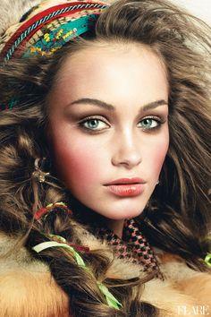 Wild At Cheek - December 2012 / Beauty Director: Carlene Higgins / Assistant Art Director: Jessica Hotson / Photographer: Andrew Soule