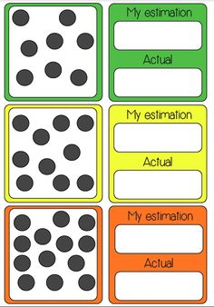 Estimating Number Card Game