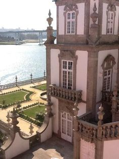 The Douro River and the Palace Freixo - Porto - (Portugal)