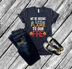 Funny Firefighter Pregnancy Announcement T-shirt (unisex) Mom to Be Fireman Women Humorous Baby Shower Gift by Smitten by Kristin - Pregnancy Photos Pregnancy Shirts, Pregnancy Photos, Pregnancy Info, Firefighter Pregnancy Announcement, After Baby, First Time Moms, Unisex, Baby Sleep, Baby Baby