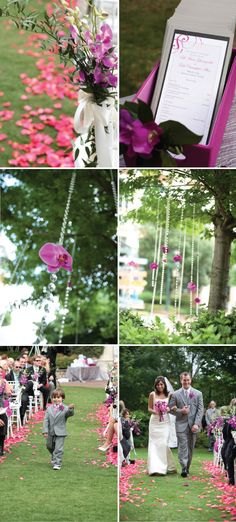 The garland can be rented for less than the cost of ribbon and a flower hung from the end.