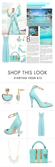 """""""As Blue As Water Contest"""" by aharcaki ❤ liked on Polyvore featuring Gucci, Dorothy Perkins, Kim Rogers, Sophie Hulme and Seychelles"""