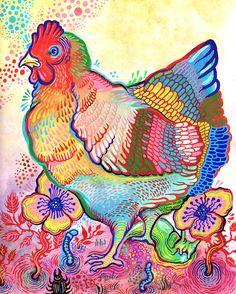Jardin poulet print - 8 x 10
