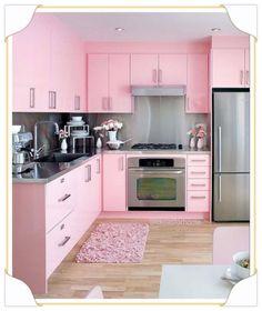 Uma cozinha rosa é o sonho de muitas meninas e... Mulheres também!!! Marque uma…