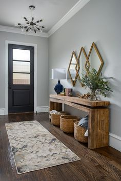 beautiful entryway inspiration The post Small Entryway Decor Ideas appeared first on Dekoration. beautiful entryway inspiration The post Small Entryway Decor Ideas appeared first on Dekoration. Entryway Console Table, Rustic Entryway, Modern Entryway, Fall Entryway, Foyer Furniture, Front Entryway Decor, Entryway Shoe Storage, Table Mirror, Entryway Rug