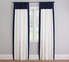 Linen Border Drape, possible drape for living room