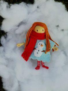 Winter Weather Waldorf Gnome Bendy Doll