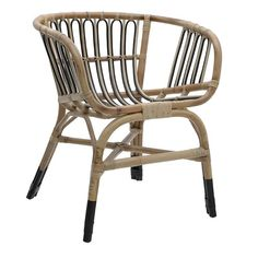 Chair with rattan seat, in black-beige color. Modern and minimal, this furniture is sure to make the perfect addition to any dining room setting. Outdoor Chairs, Dining Chairs, Outdoor Furniture, Outdoor Decor, Shabby Chic Style, Interior Design, Home Decor, Ideas, Lounge Chairs