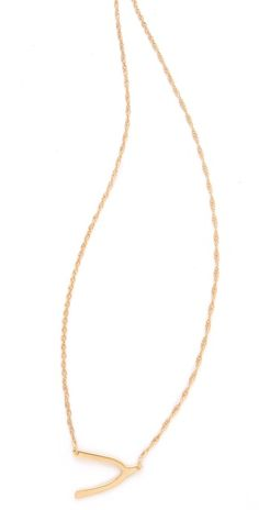 Stocking stuffer!  Jennifer Zeuner wishbone necklace