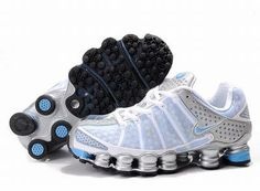 Find Women s Nike Shox TL Shoes White Light Blue Silver Lastest online or  in Footlocker. Shop Top Brands and the latest styles Women s Nike Shox TL  Shoes ... db9e612bf
