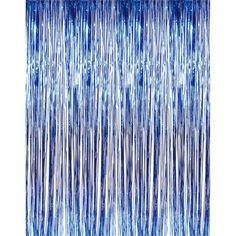 Buy 3' x 8' Blue Tinsel Foil Fringe Door Window Curtain Party Decoration at Walmart.com