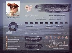 Oana Ciobotea [an infographic CV] on Behance @onico