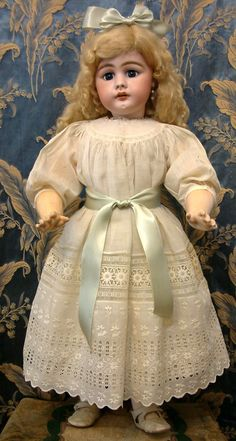 "COLOSSAL 31"" Simon & Halbig 949 Antique Child Doll In Beautiful from kathylibratysantiques on Ruby Lane"