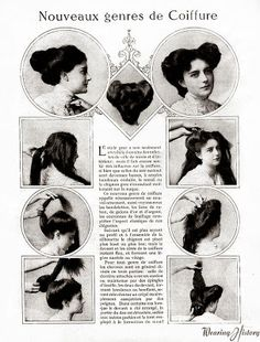 1901-1910. Hairstyle instructions.