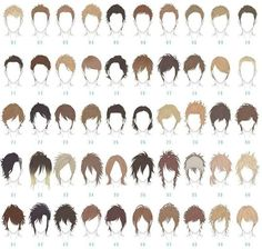 albums of male anime hair reference Boy Hair Drawing, Guy Drawing, Drawing Poses, Manga Drawing, Drawing People, Drawing Tips, Drawing Reference, Drawing Ideas, Anatomy Drawing