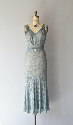 Fontainebleau gown vintage 1930s dress lace 30s by DearGolden