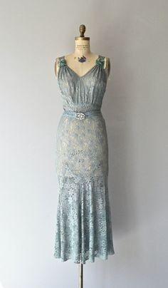 Lace evening dress c.1930s