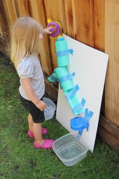 """Easy DIY Water Wall from Toddler Approved! ("""",)"""