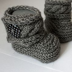 Knitted  Baby Boots (etsy)