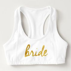 Bride Sports Bra! Sports Bra