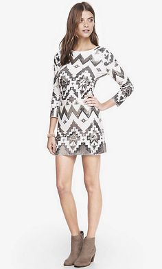 Aztec Sequin Embellished Mini Dress from EXPRESS i just bought but i have no idea where to wear it too!