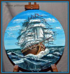 quadro realizzato dal pittore contemporaneo ANGELAIMPAGLIAZZO - veliero