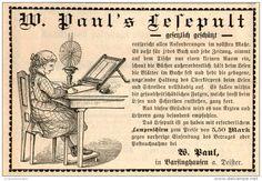 Original-Werbung/Inserat/ Anzeige 1891 - W. PAULS LESEPULT / BARSINGHAUSEN - ca. 90 x 60 mm