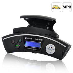 Fm transmitter - bluetooth car steering wheel handsfree mp3 player