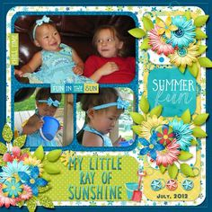 Layout using {Summer Fun} Digital Scrapbooking Collection http://store.gingerscraps.net/Summer-Fun-Collection-by-Lindsay-Jane.html and {Simple Stack 1} by Lindsay Jane http://store.gingerscraps.net/Simple-Stack-1-Templates-by-Lindsay-Jane.html