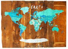 Oliver Jeffers World Map
