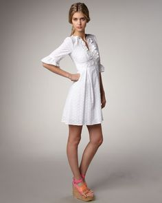 Aztec Eyelet Dress by Nanette Lepore at Bergdorf Goodman.