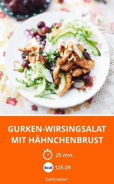 Gurken-Wirsingsalat mit Hähnchenbrust
