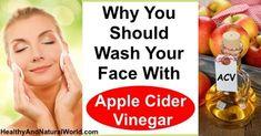 De ce ar trebui spală fața cu mere oțet