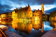 Brugge by night by Loïc Lagarde on 500px