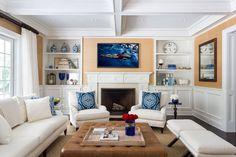 A striking photograph in a beachy Hamptons living room Hamptons Living Room, Hamptons Decor, The Hamptons, Flat Screen, Photograph, Blood Plasma, Photography, Fotografie, Fotografia