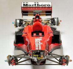 Superdetailing the Tamiya / Top Studio Ferrari F1-2000 1/20 scale. Bonus: F1-2001 OOB
