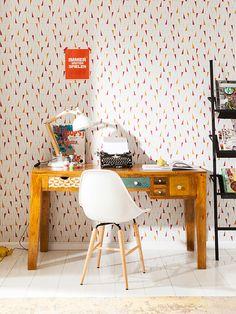 a7e30599981 Bureau en bois Soleil 6 tiroirs 135x60cm Kare Design