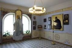 """A prayer-room of Empress Alexandra's sister Elizaveta """"Ella"""" in the Marfo-Mariinsky Convent, Moscow she founded in 1908. Fully restored in 2008 according to the photos ~ more about convent on the click"""