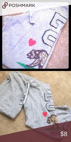 LOVE republic CA sweatpants. Size large, grey ca republic sweat pants - crop. No stains or rips. Worn once. Pants Capris